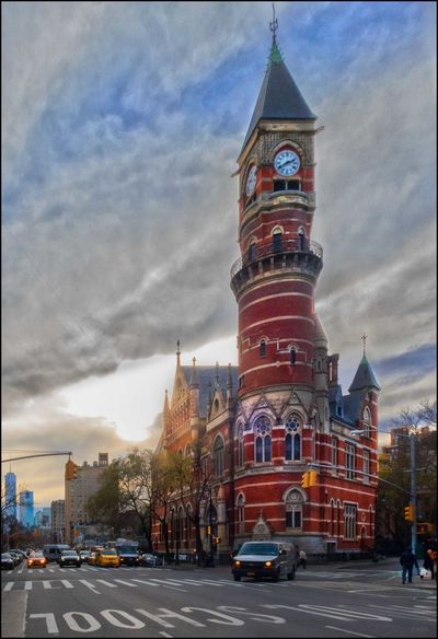 DT**** _ Jefferson Mkt. Library - 12/6/17 Be. Ready. EyeEmNewHere It Was The Woman's House Of Detention From 1927-1974, Now A Library! The Street Photographer Architecture Building Exterior Built Structure Clock Tower Malephotographerofthemonth