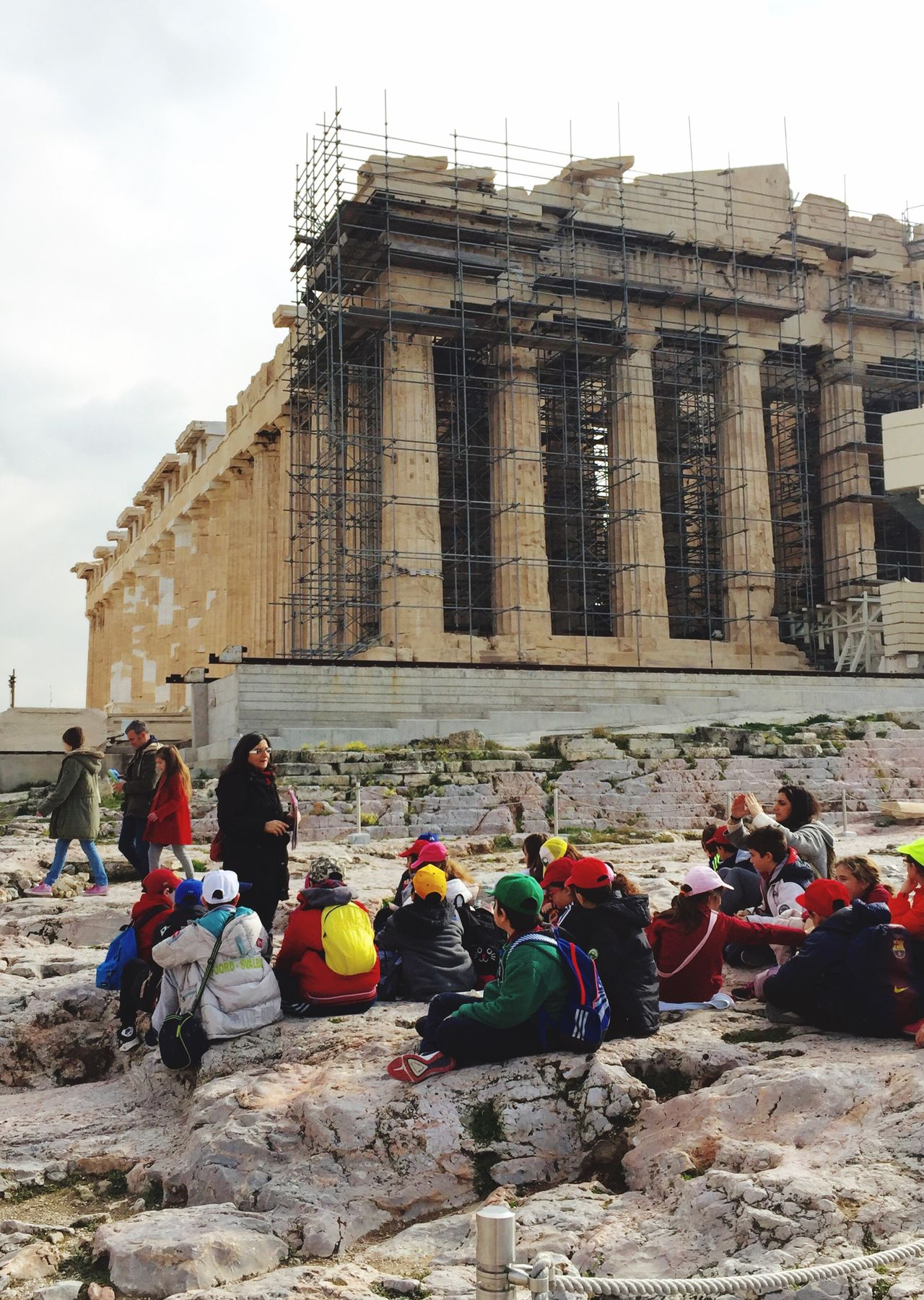 teaching lesson, the Parthenon Historical Monuments Light And Shadow IPhoneography Architecture Eye4photography  Historical Building Peoplephotography Capture The Moment Landscape Enjoying Life
