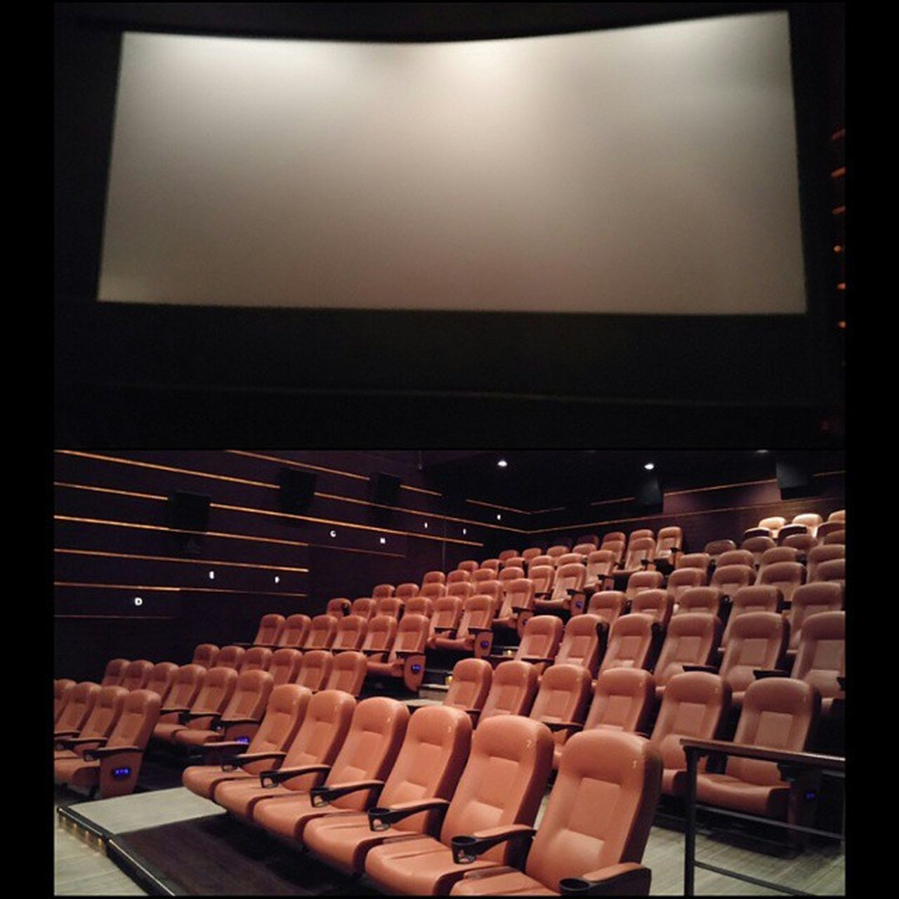 arts culture and entertainment, chair, in a row, indoors, auditorium, audience, seat, large group of objects, projection equipment, film industry, day