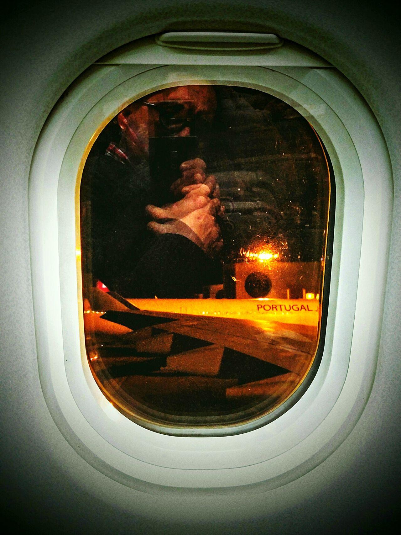 Sefl Portrait Lisboa Portugal From An Airplane Window Tap Lisboa/maputo