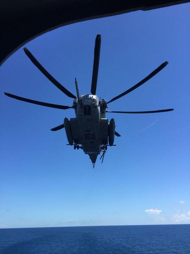USMC CH-53 inbound to USNS Wright off the coast of North Carolina.... Atlantic Ocean Blue CH-53 Ch53 Eye4photography  EyeEm Best Shots EyeEm Gallery Helicopter Logistics Marines Military Military Aircraft Military Helicopter Military Life Mode Of Transport Outdoors Sky Super Stallion USMC USMC Aviation