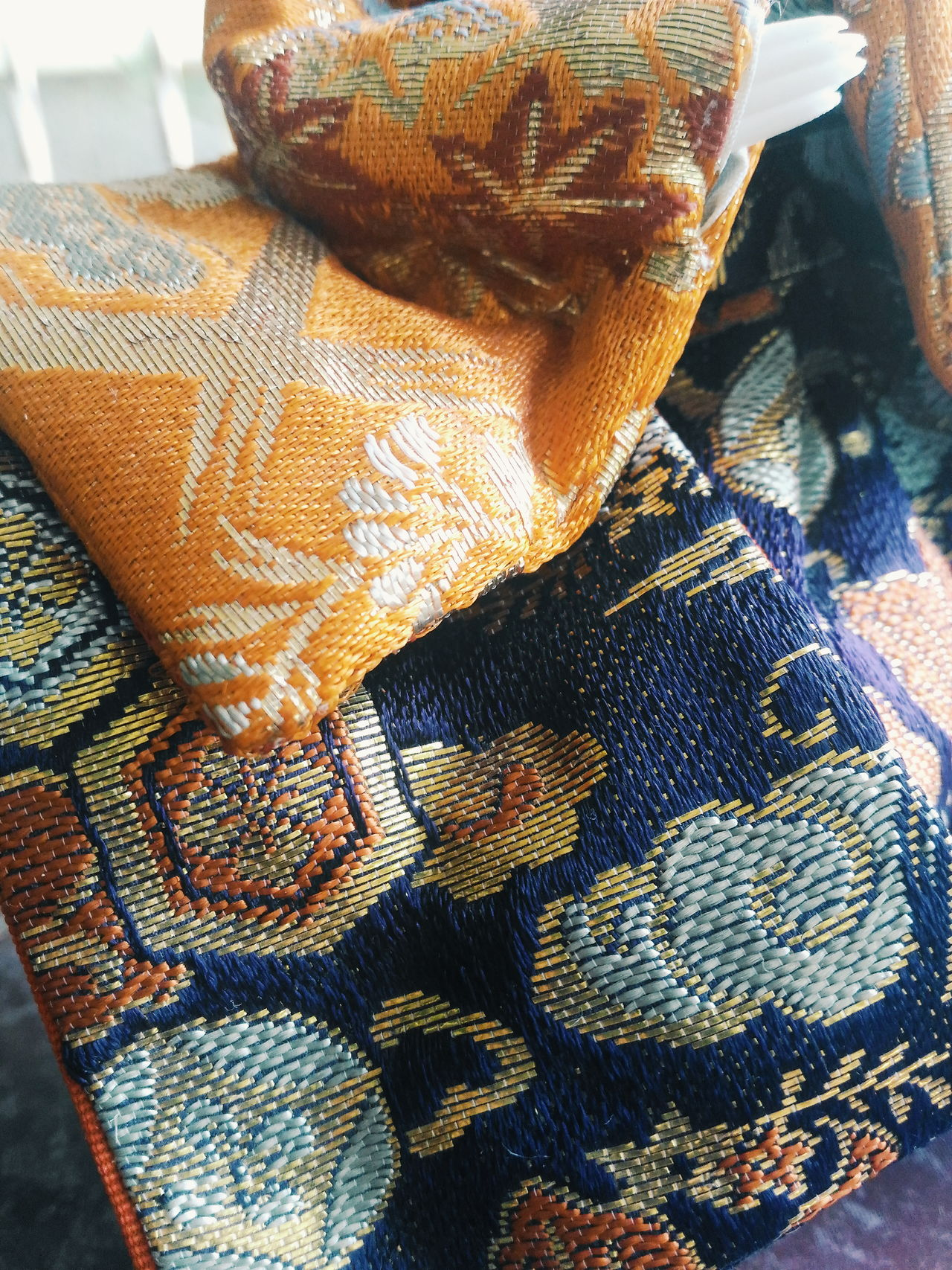 Textures Textile Japanese  Kimono Dolls Embroidery Brocade Zenfone2 Attemptsatphotography