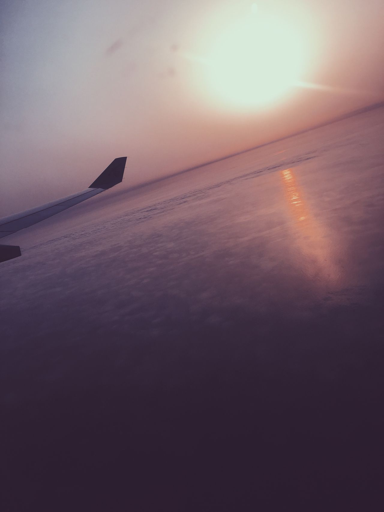 Sunrises as beautifully as the sun sets Airplane Transportation Flying Travel Nature Journey Sunset Sky Airplane Wing Aircraft Wing Beauty In Nature Landscape No People Sun Outdoors Air Vehicle Day