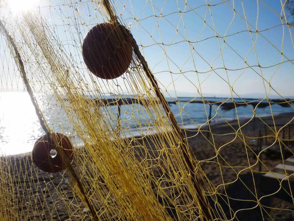 Sky Fishing Net Close-up Clear Sky Nature Outdoors Day Fishing Fishnet Sunlight Sun Beach Sea Fishnets Kalamata Greece