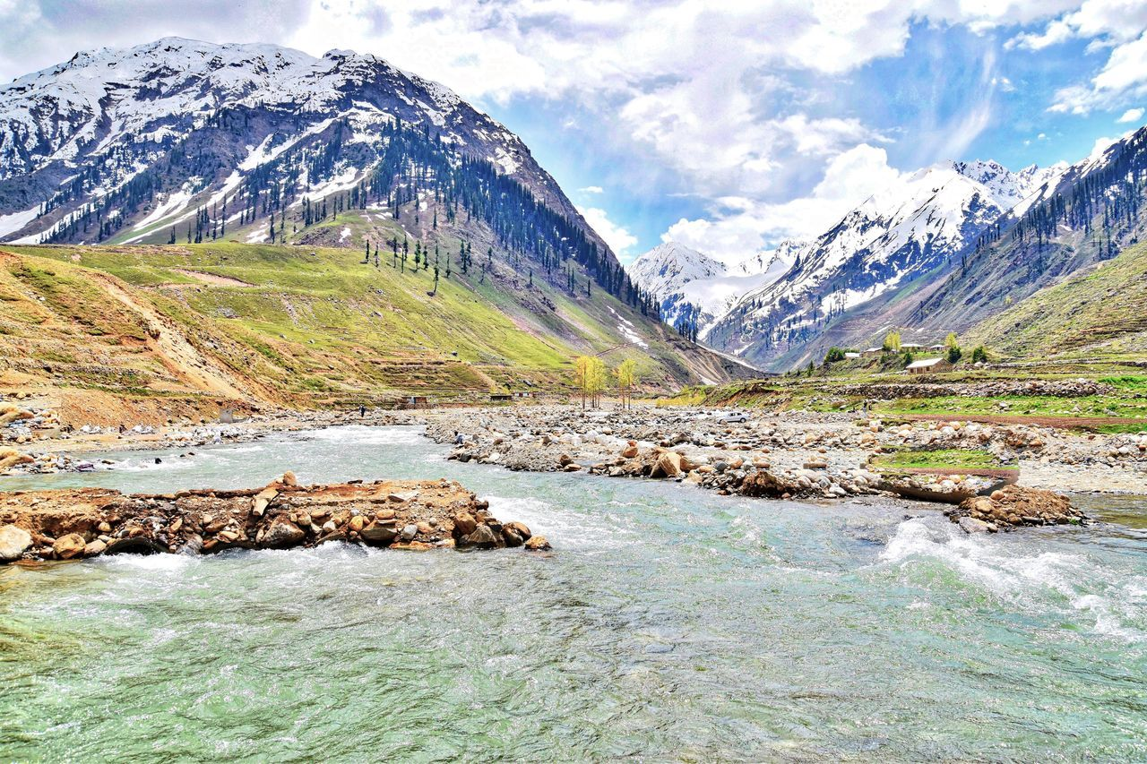 Behold..... Amazing Pakistan Beauty In Nature Cold Temperature Crystal Clear Waters Landscape Mountain Mountain Range Mountain Stream Nature Outdoors Scenics Sky Snow Snowcapped Mountain Tranquility Travel Destinations Water