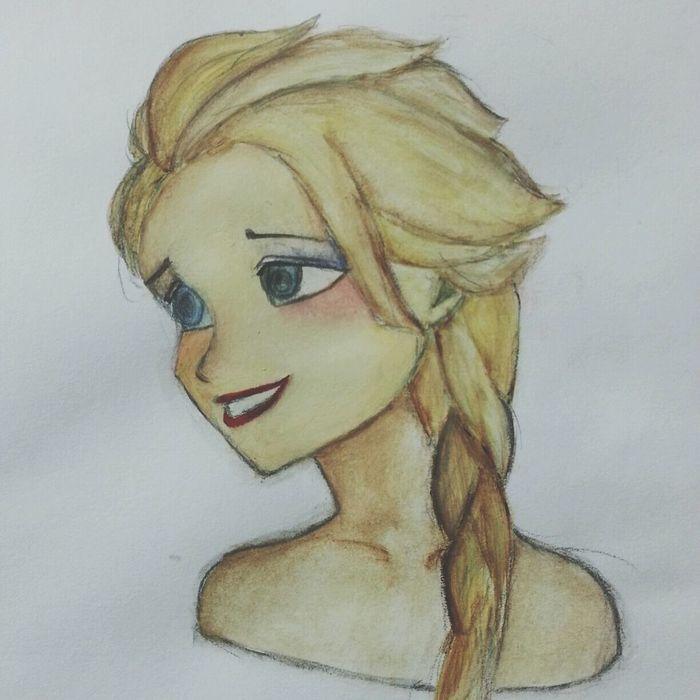Elsa Drawing Drawingtime Elsa♡