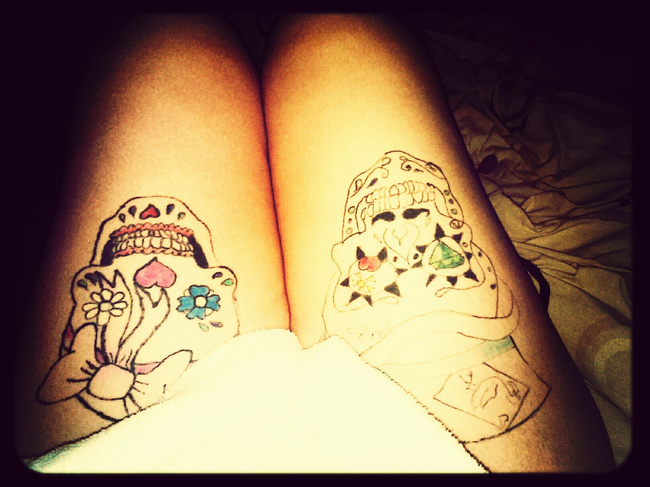 Sugarskull Tattoo Legs Dressinggowns First Eyeem Photo
