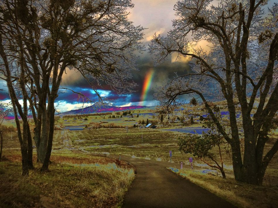 Oregon Southernoregon Phonetography Light And Shadow Edits Rainbow