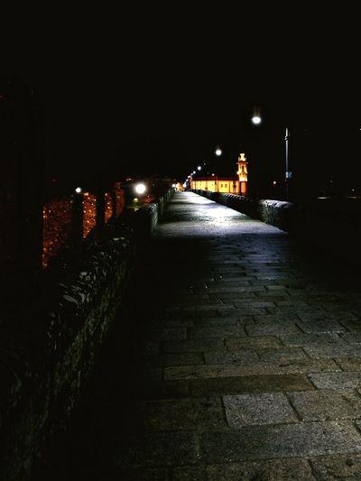 No People Old Bridges Illuminated Night