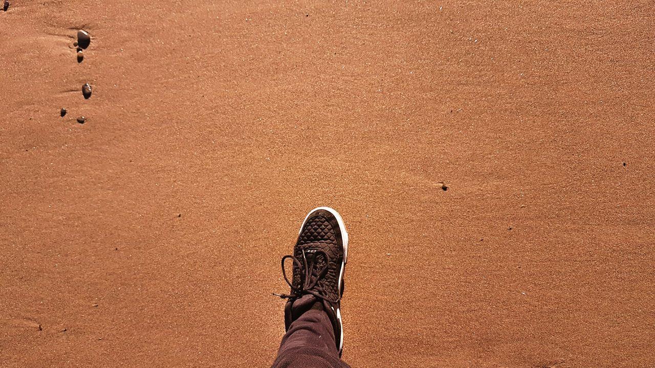 A step foward Beach Shoe Sand Abstract