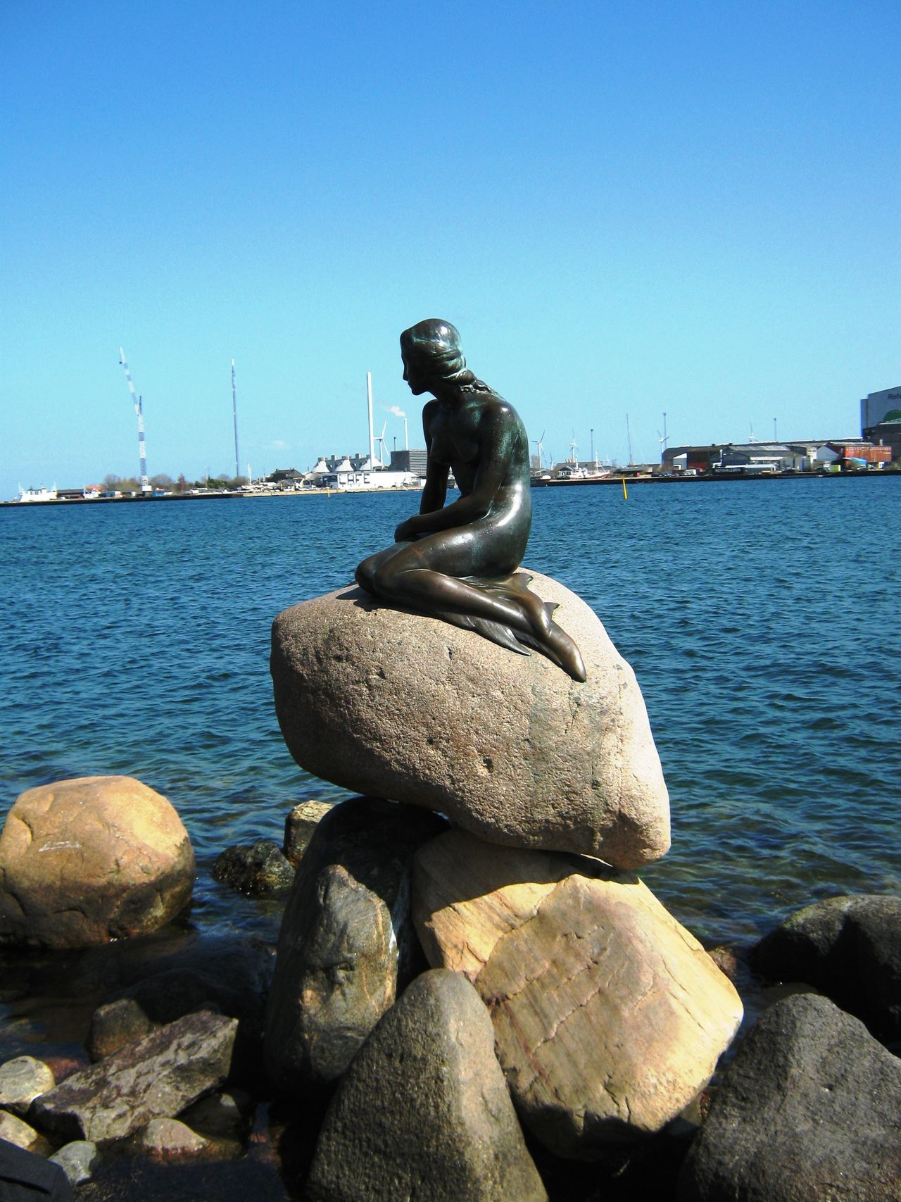 Langelinie, Copenhagen Balance Beauty In Nature Blue Clear Sky Copenhagen Day Langelinie Nature No People Outdoors Rippled Rock Rock - Object Scenics Sea Sky Stone Stone - Object The Little Mermaid The Little Mermaid. Tranquil Scene Tranquility Water