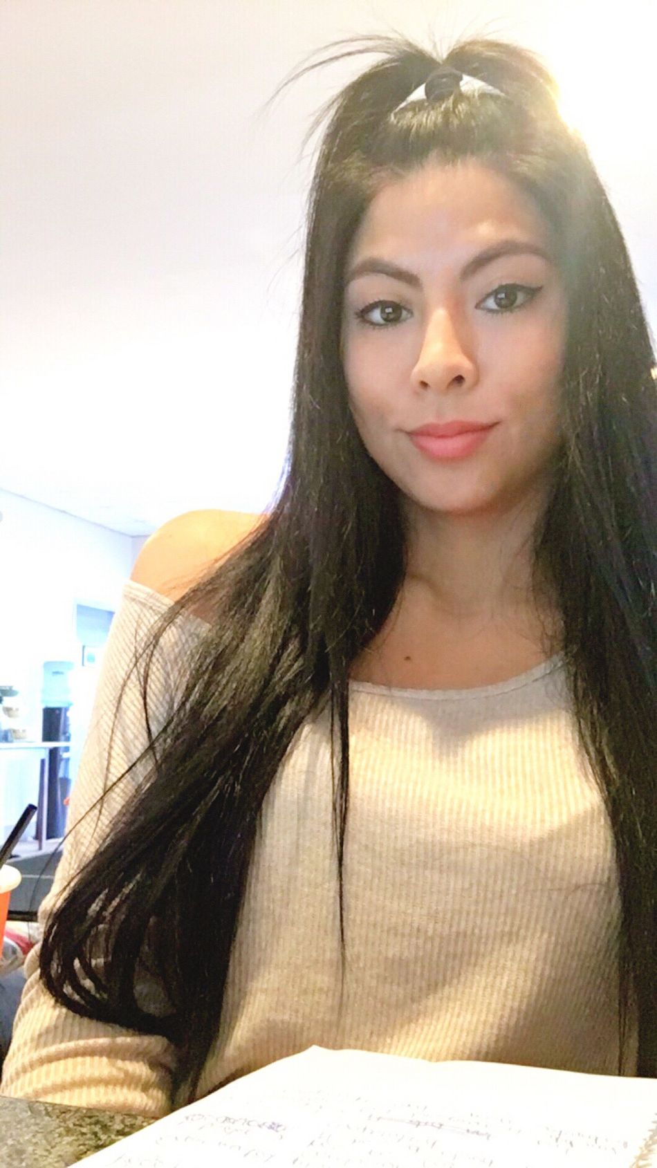 Me Latina Self Selfie ✌ Long Hair Cute Model NYC Val  Chilling Studying New To EyeEm Followme Like Follow Brown Eyes Makeup Hair Hairstyle Lips