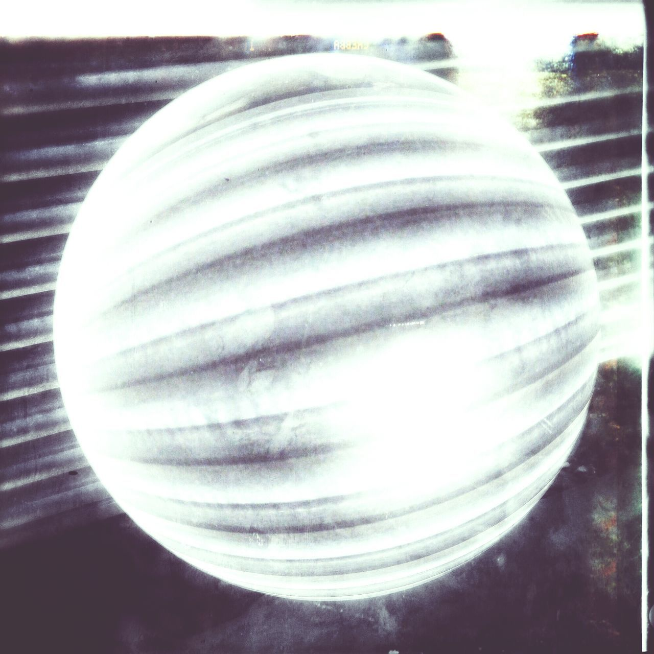 What is it? Why, it's a glowing ball of corrugated steel, naturally. Phoneography Andrography Snapseed R22fisheyelive