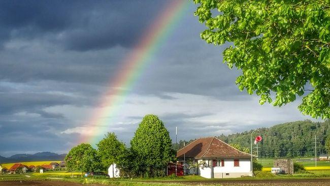 Rainbow Enjoying Life Nature Atmospheric Mood Beauty In Nature Cloud - Sky