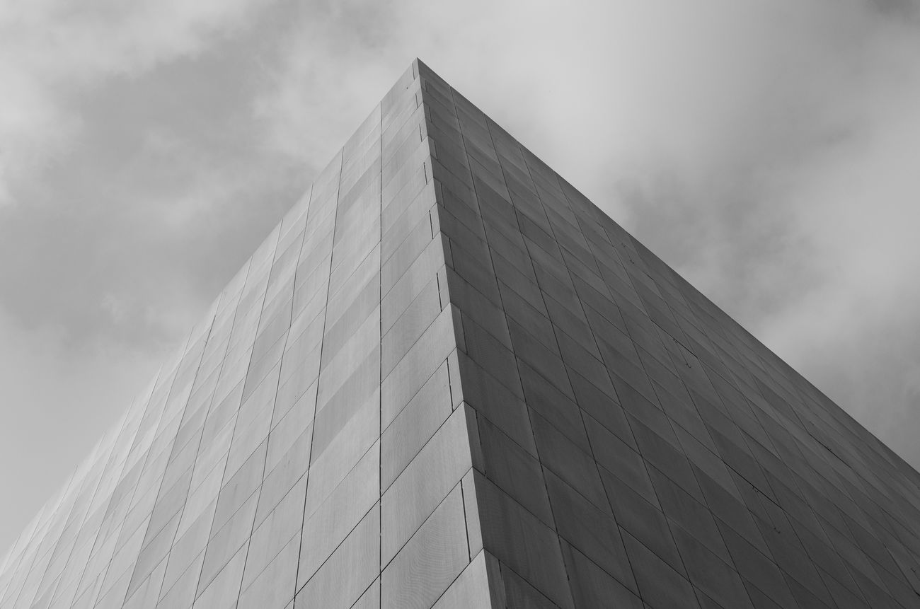 Sky Architecture Building Exterior Pyramid Shape Pyramid Black & White Black And White