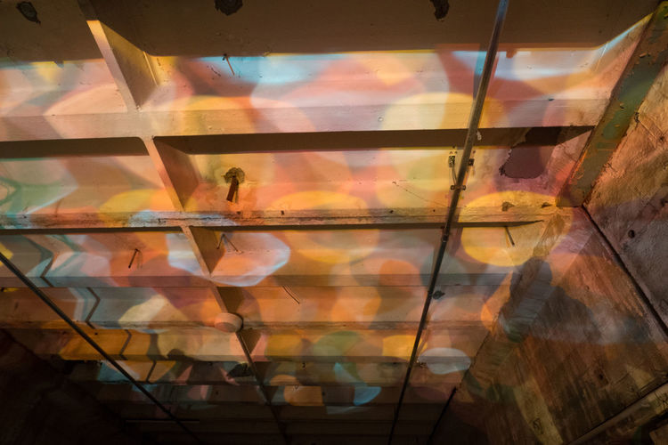 Ceiling Close-up Concrete Day Indoors  Light And Shadow Multi Colored Perspectives Playground Reflection Water