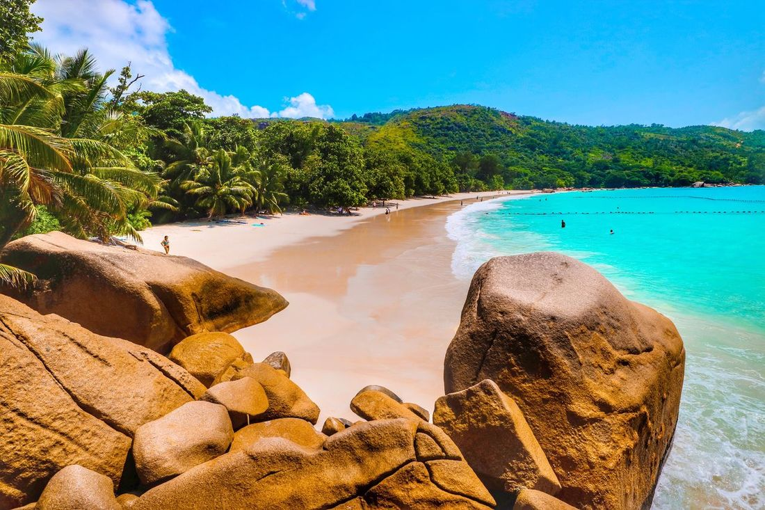 EyeEm Selects anse lazio praslin seychelles Water Rock - Object Beauty In Nature Nature Tranquility Tree Tranquil Scene Scenics Sea Day Sky Beach Mountain Blue Outdoors No People Sand Seychellen Seychelles Islands Seychelles Praslin Seychelles Praslin Anse Lazio Travel Destinations