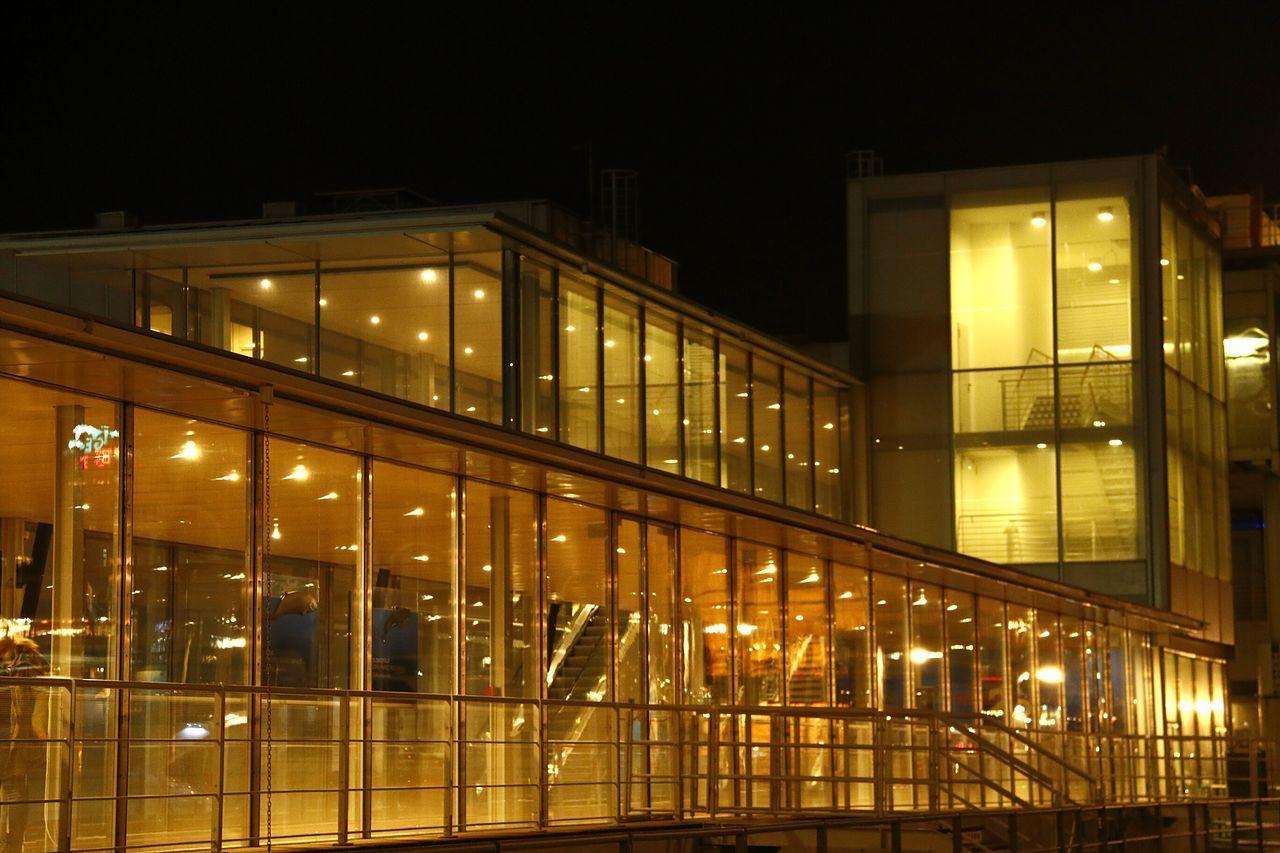 Night Illuminated City Architecture Built Structure Cityscape