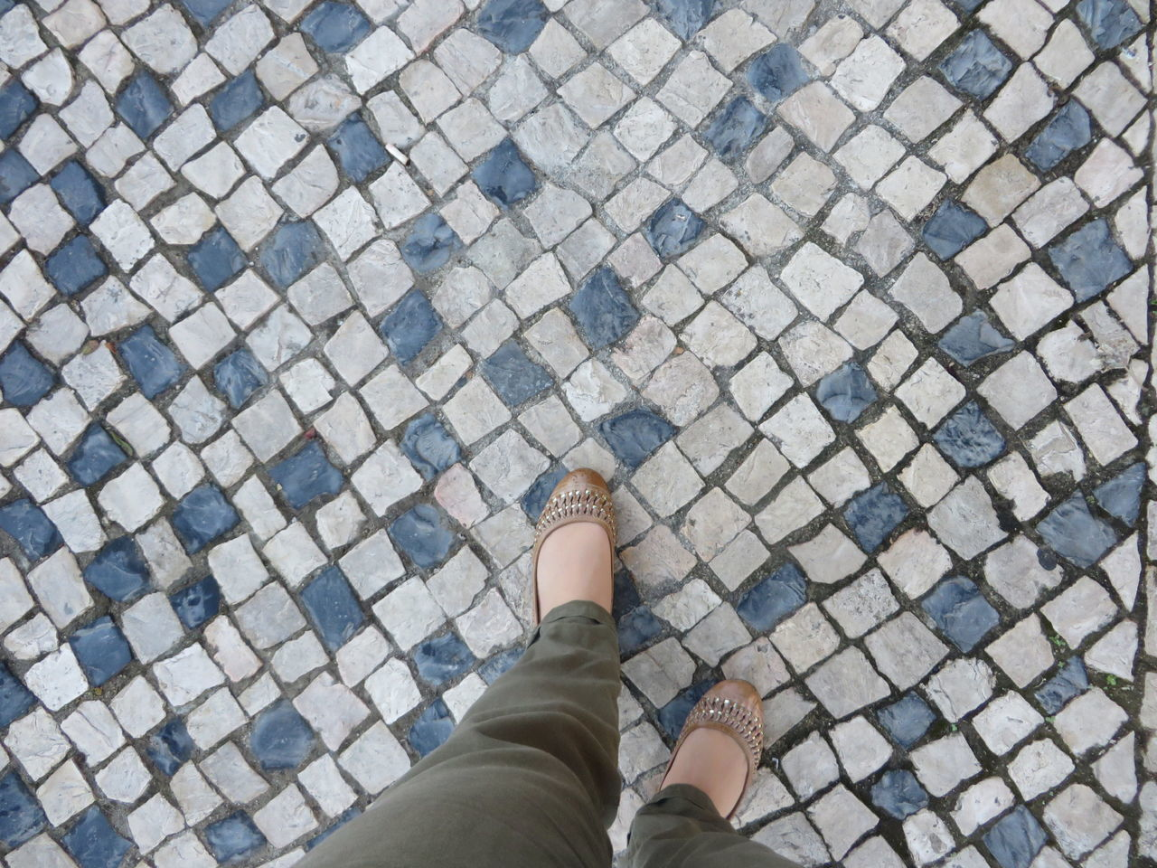 Exploring Lisbon in 15 hours City Break Day Day Trip Human Leg Lisbon - Portugal Low Section Mosaic One Person Outdoors Pattern Pavement Personal Perspective Real People Shoe Sight Seeing Standing Tourism Walking Around