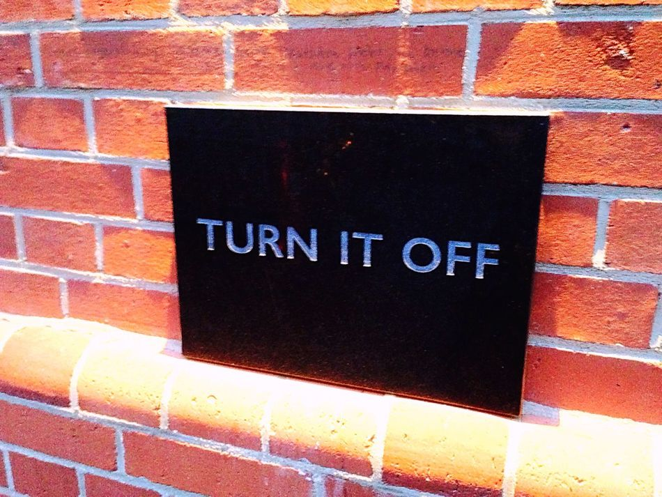 Turn It Off Street Art Berlin Funeral Ceremony Funeral Communication Sign Capital Letter No Phones