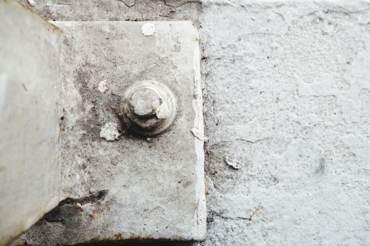 no people, close-up, textured, day, outdoors, nut - fastener, architecture