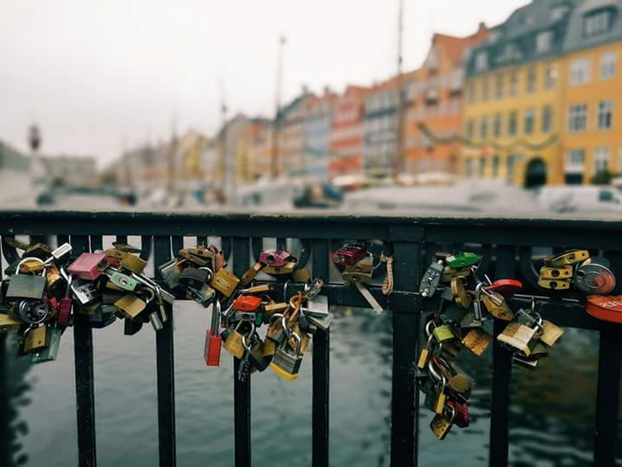 Copenhagen, Denmark Love Locks Bridge Bridge View
