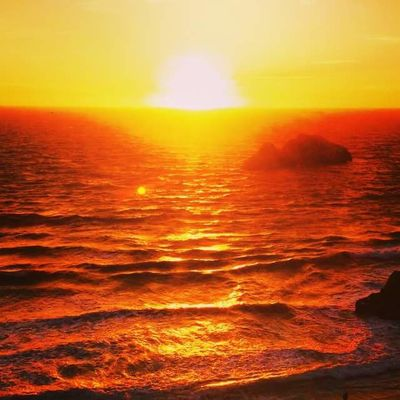 Ocean Photography Beauty In Nature Day Dramatic Sky Horizon Over Water Idyllic Nature No People Ocean Beach Orange Color Outdoors Scenics Sea Sky Sun Sunlight Sunset Tranquil Scene Tranquility Water Wave Yellow