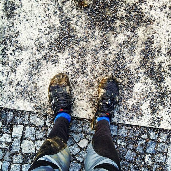 Kilometer 18: im Ziel. Braveheartbattle Training Trailrunning
