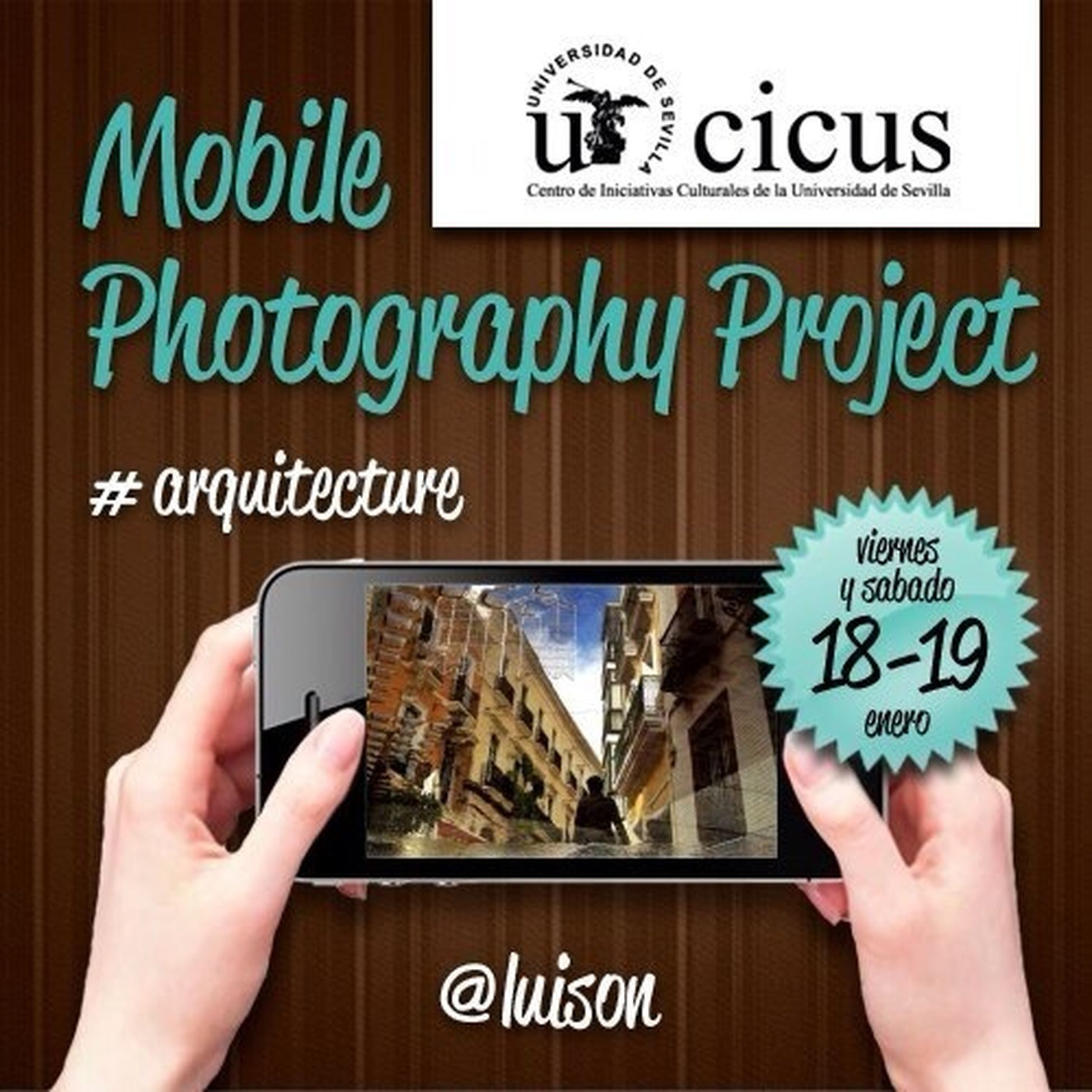 "Invited by my colleagues @sevillacreativa & @colcherovazquez I will lead tomorrow Friday & Saturday a workshop entitled: ""Architecture in mobile photography""at CICUS, Sevilla. On Friday I will speak about Perspective, correction on parallel lines (FrontVi"