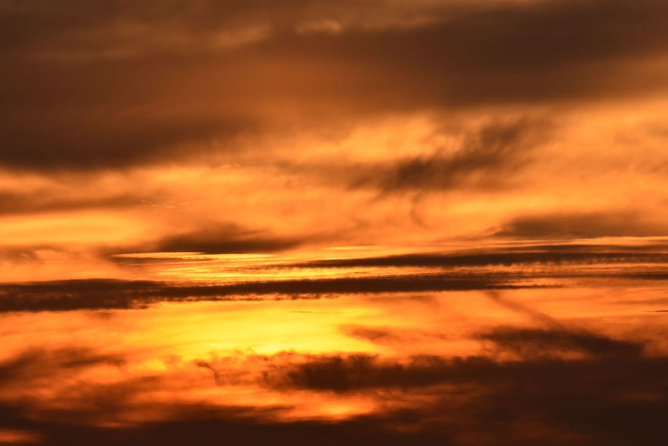 Beauty In Nature Cloud - Sky Cloudscape Dramatic Sky Fiery Sky Fiery Sunset Idyllic Interesting Clouds Nature No People Orange Color Outdoors Reflection Scenics Sky Sunset Tranquil Scene Tranquility Travel Destinations