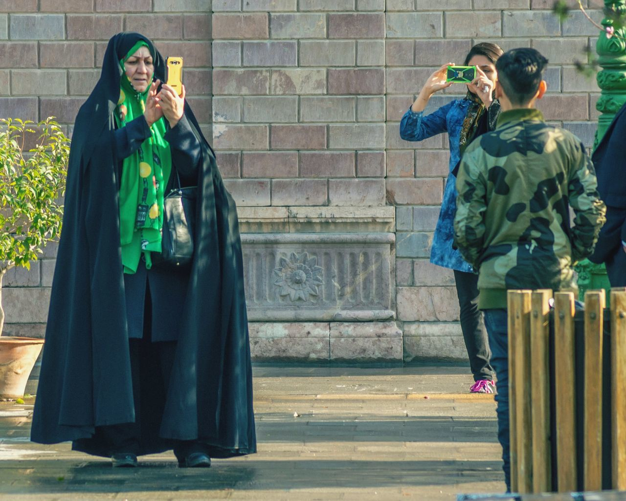 Adult Outdoors People Iranian Golestan Palace Young And Old Telephonepole