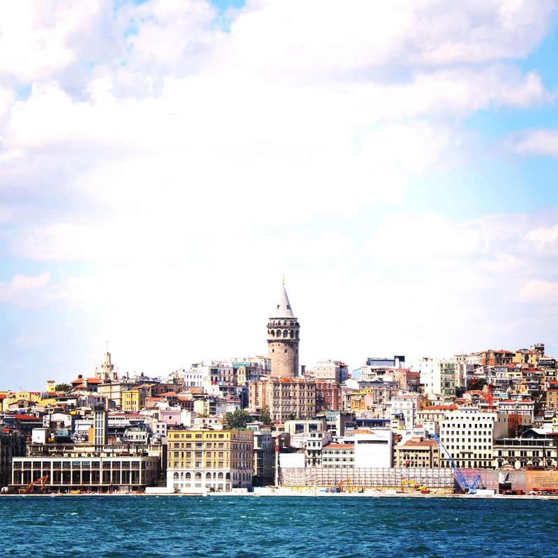 Galata Turkey Istanbul Architecture Building Exterior Sky Built Structure City Water Waterfront River Outdoors Travel Destinations Cityscape Day No People
