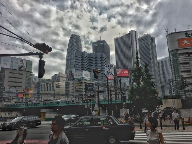 Architecture Building Building Exterior Built Structure Capital Cities  City City Life City Street Cityscape Cloud Cloud - Sky Cloudy Day IPhone Leisure Activity Lifestyles Modern Office Building Outdoors Shinjuku Sky Tall - High Tokyo,Japan Travel Destinations Weather