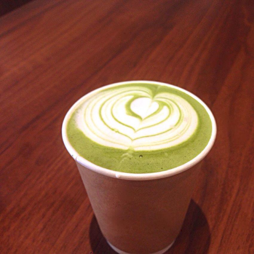 Kyoto Japan KIRIHA Cafe Cafe Green Tea Latte 京都 日本 カフェ 抹茶ラテ
