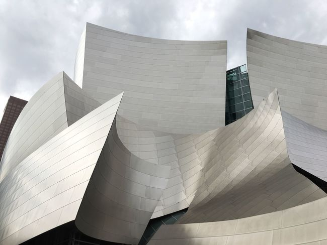 Curviliniar architecture Building Exterior Architecture Built Structure Low Angle View Sky Modern City Sheetmetal Exterior Architecturephotography Reflections And Shadows Cloud - Sky Outdoors Day No People Close-up Gehry Buildings Frank Gehry Building The Architect - 2017 EyeEm Awards