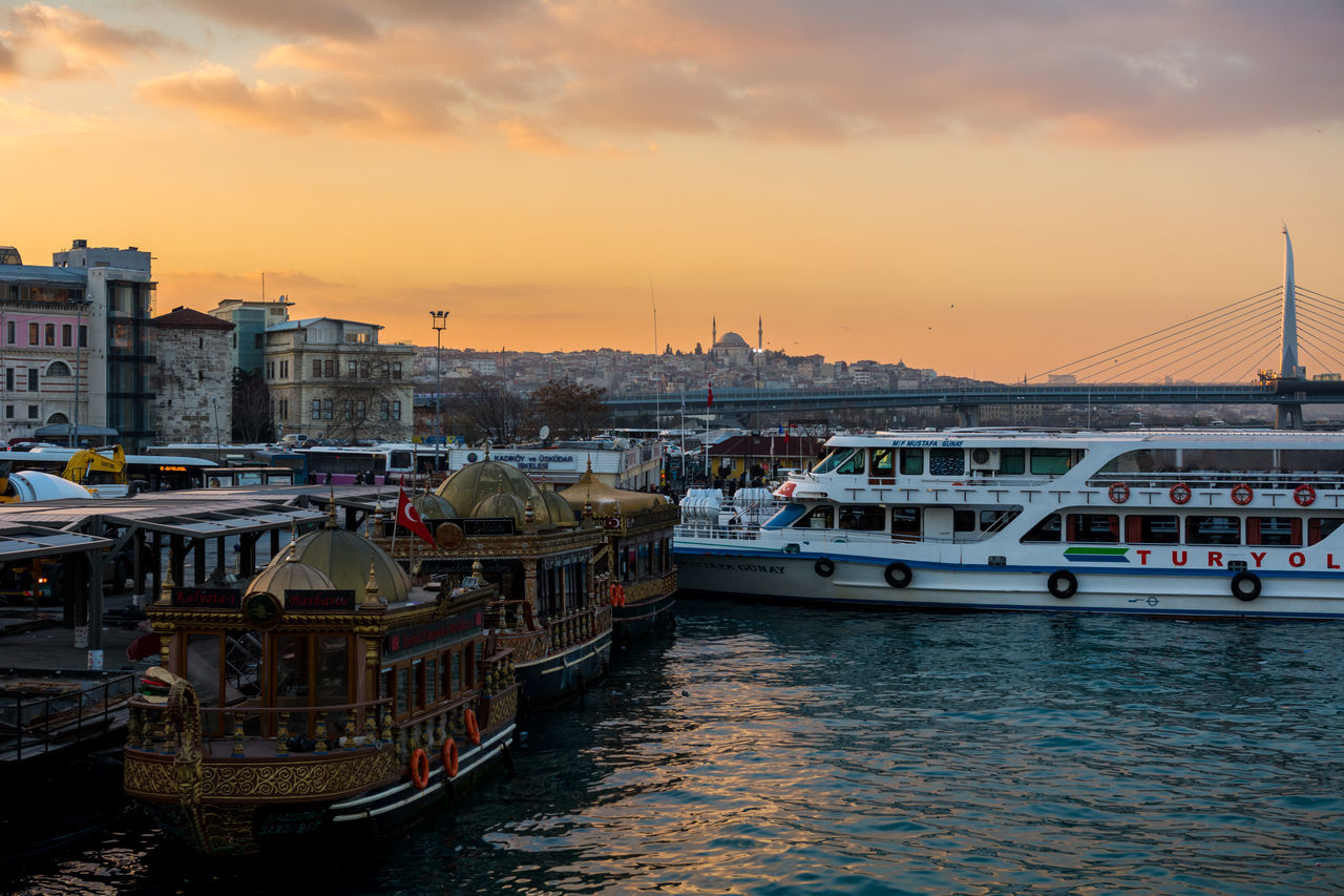 Cityscape City Nautical Vessel Travel Destinations Travel Tourism Bridge - Man Made Structure Sky Urban Skyline Water Yacht Harbor Türkiye Türkei Turkey Ottoman Style Ottoman Empire Galata Köprüsü Galata Bridge Architecture Golden Horn Istanbul Golden Horn Eminönü