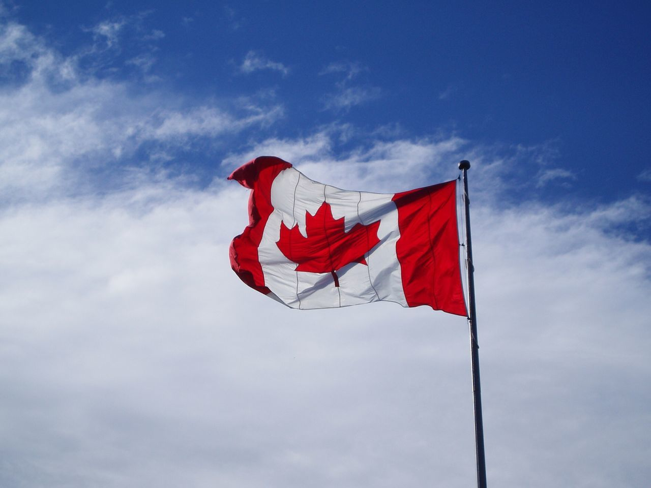 Beautiful stock photos of flag, Canadian Culture, Canadian Flag, Cloud, Day