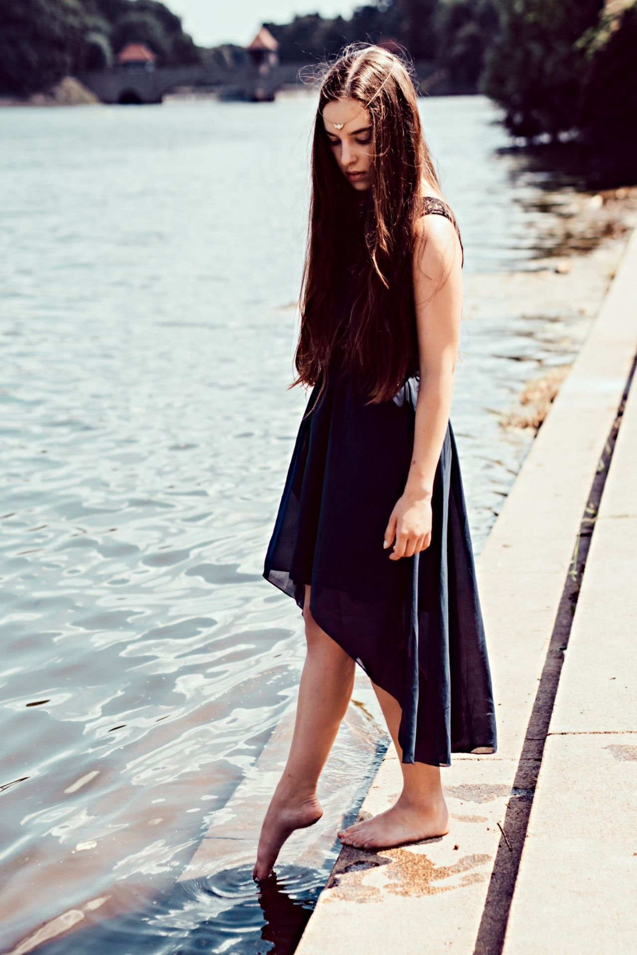Beautiful stock photos of dress, Barefoot, Day, Dress, Focus On Foreground