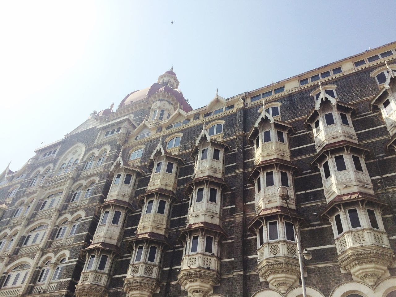 architecture, low angle view, history, clear sky, no people, building exterior, day, outdoors
