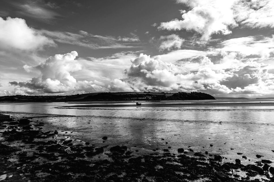Laugharne Wales Scenery Blackandwhite Black And White Photography Landscape Estuary DylanThomas Clouds And Sky Monochrome Photography