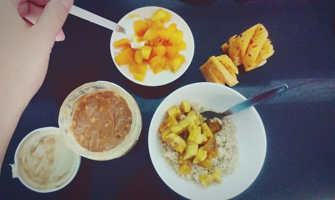 Foodporn Tasty Greekyogurt Mango Pineapple Oats Sweet Enjoy Morning