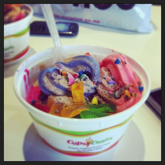 Cupsandcones Frozenyoghurt Delish Love differentflavors awesome
