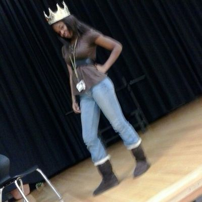 Me yesterday on our stagee being goofy