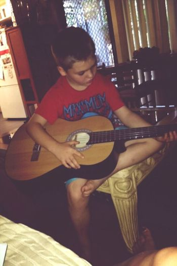 Gave the little brother a guitar lesson Guitar Learning Music Bruh