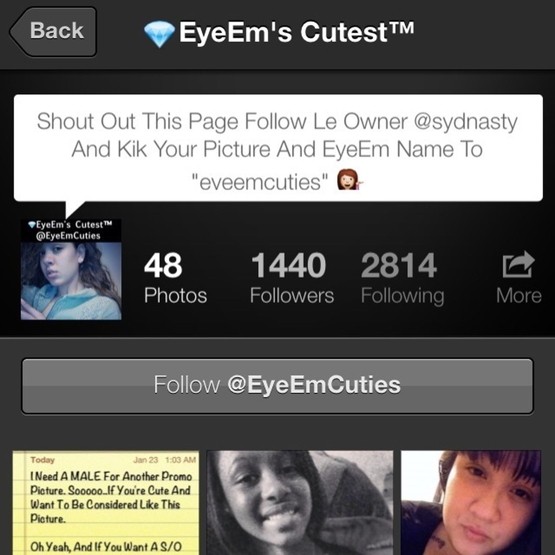 S/O to @eyeemcuties they get you followers follow them !!!!!!!