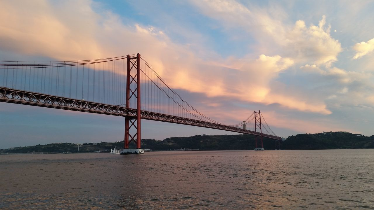 Lisbon Lisboa Portugal Bridge - Man Made Structure Architecture Water Lizbona Lisbonlovers Bridge Bridge Over Water