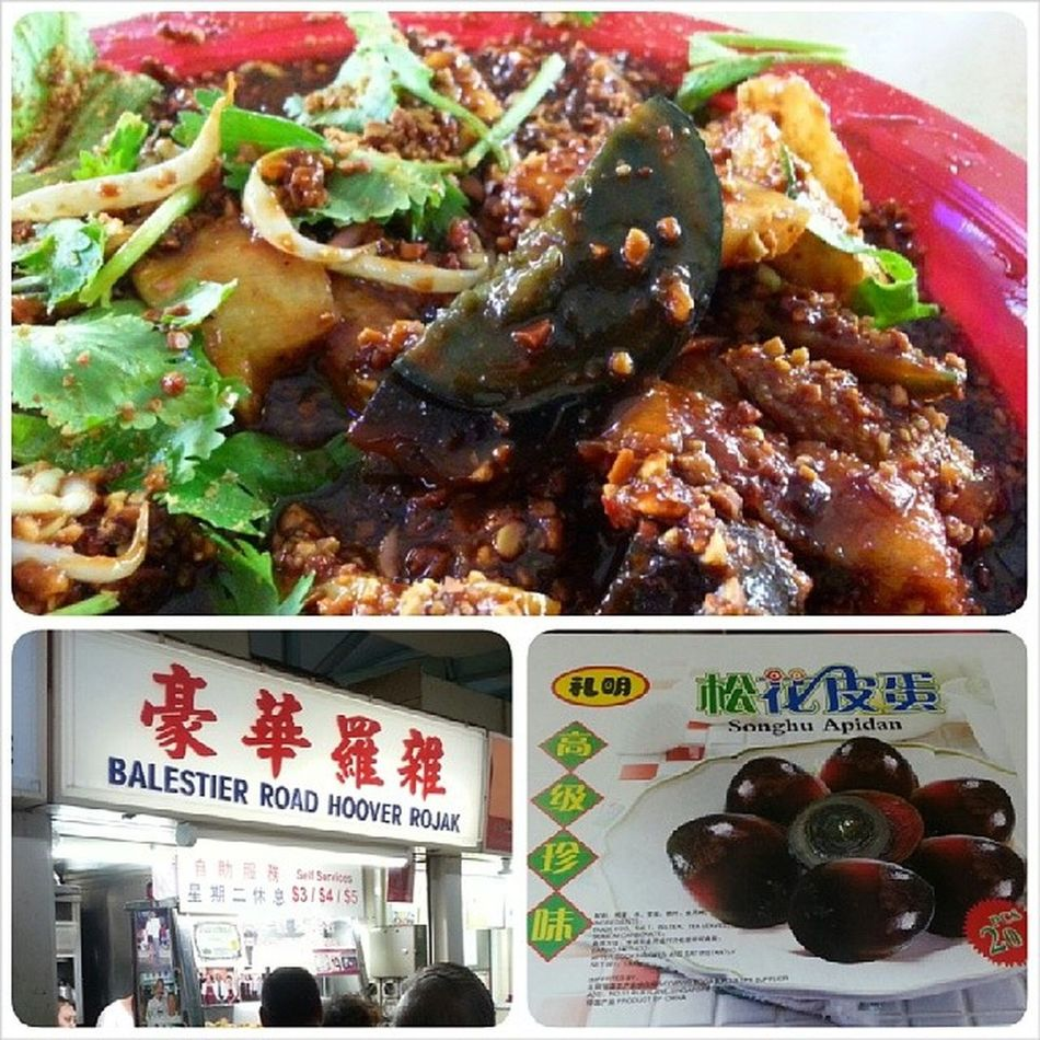 Must try: Balestier Hoover Rojak with the heavenly century egg! Love the cuttlefish bits added to the rojak too. =) EatOut Foodporn Yummy Fatdieme makanhunt food instafood instafoodies foodie foodgasm fotd foodgram foodinc sgfood happytummy foodphotography openricesg burpple