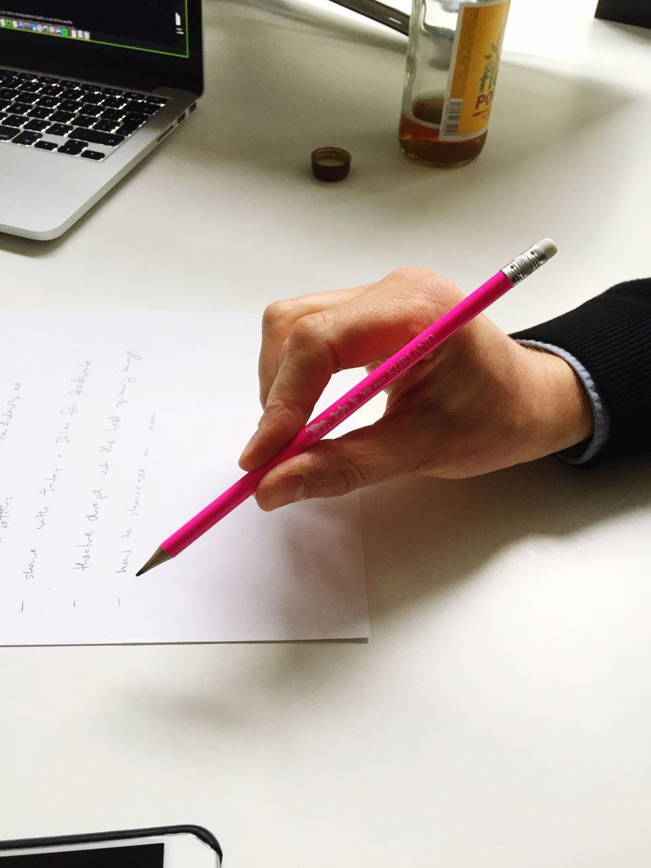 Michael and the millenial pink pen