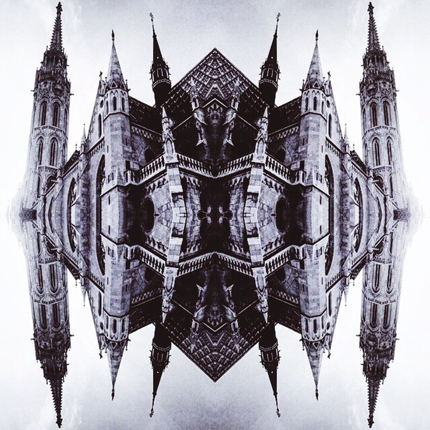 EyeEmNewHere Pattern Built Structure Architecture Symmetry Building Exterior No People Sky Dark Mood Mirror Reflection Church Matyas Church Streetphotography