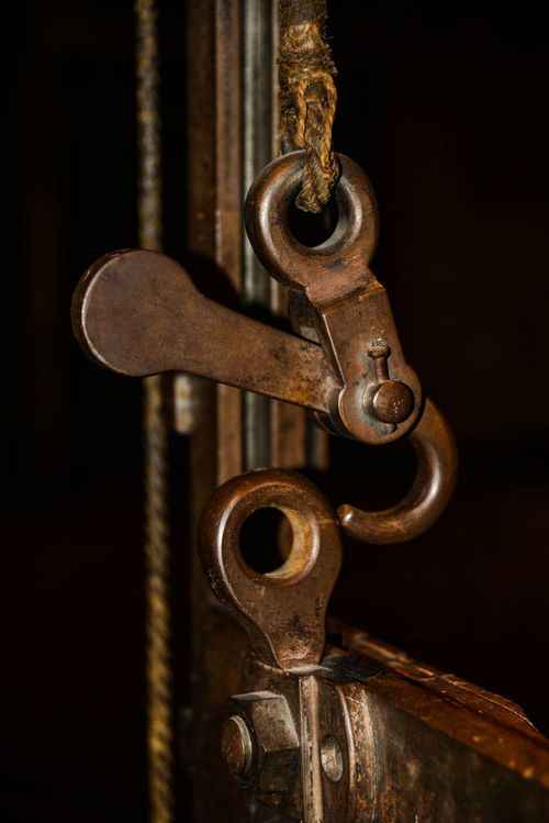Close-up Guillotine Hanging Locker Metal No People Old-fashioned TRIGGER